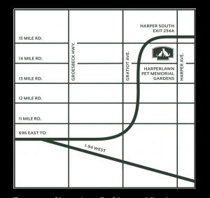 Harperlawn Pet Memorial Gardens Directions Map